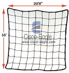 "Rack Safety Net, 20'8"" x 16', 4,000 lbs. Cap. 4"" x 4"" Nylon Mesh"