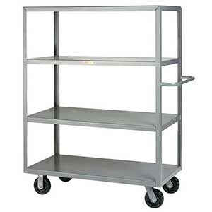 "Steel Shelf Truck - 4 Flush Shelves, 30""W x 60""L"