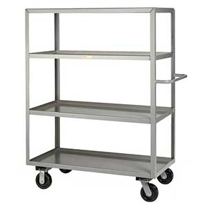 "Steel Shelf Truck - 4 Lip Shelves, 24""W x 48""L"