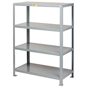 "Welded Steel Shelving - 4 Solid Shelves, 18""D x 32""W x 72""H"