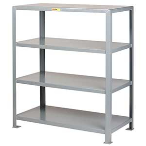 "Welded Steel Shelving - 4 Solid Shelves, 30""D x 72""W x 72""H"