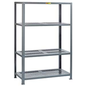 "Welded Steel Shelving - 4 Perforated Shelves, 18""D x 32""W x 72""H"