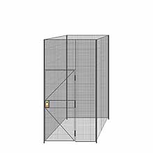"4-Wall Welded Wire Partition - 5'4"" x 5'4"" x 10'5-1/4""H"