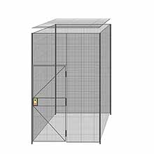 "4-Wall Welded Wire Partition w/ Ceiling - 6'4"" x 6'4"" x 10'5-1/4""H"
