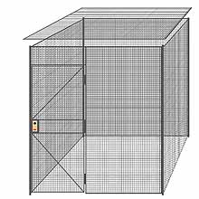 "4-Wall Welded Wire Partition w/ Ceiling - 7'4"" x 7'4"" x 8'5-1/4""H"