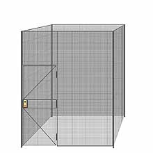 "4-Wall Welded Wire Partition - 8'4"" x 8'4"" x 10'5-1/4""H - 3' Hinged Gate"