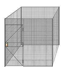 "4-Wall Welded Wire Partition - 8'4"" x 8'4"" x 8'5-1/4""H - 3' Hinged Gate"