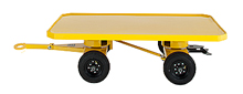 "4-Wheel Quad Steer Trailer, Single Deck - 36""W x 72""L, 2,000 lb. Deck Cap."