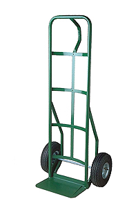 Steel Hand Truck with loop handle, semi-pneumatic wheels