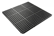 24/Seven Grease Resistant Black Mat: 5/8in x 3ft x 3ft