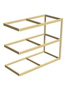 "Double Rivet Shelving, 3 Shelf, 60""W x 36""D x 60""H, Adder, No Decks, 1200 lbs. Shelf Cap."