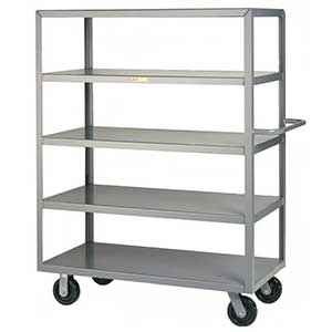 "Steel Shelf Truck - 5 Flush Shelves, 30""W x 60""L"