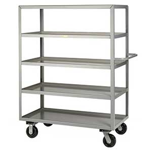 "Steel Shelf Truck - 5 Lip Shelves, 24""W x 48""L"