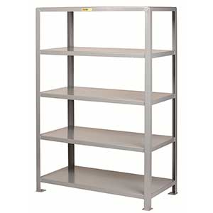 "Welded Steel Shelving - 5 Solid Shelves, 30""D x 48""W x 72""H"
