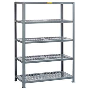 "Welded Steel Shelving - 5 Perforated Shelves, 36""D x 60""W x 72""H"