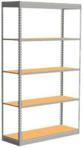 "Low Profile Rivet Shelving, 36""w x 12""d x 84""h, 350Lbs. Cap., 5 Shelves - Starter - With Decking"