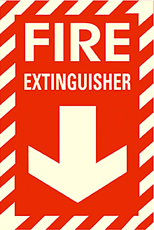 Safety Sign Fire Extinguisher Red Self Adhesive Film