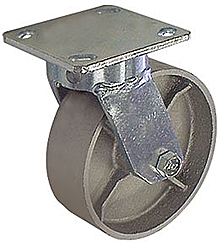 "65 Series Swivel Caster - 8"" x 2"" Cast Iron Wheel - 1,400 lb. Cap."