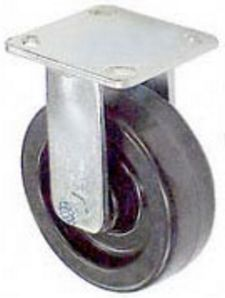 "65 Series Rigid Caster with 6"" x 2"" Phenolic Wheel and 1,200 lb. Capacity"