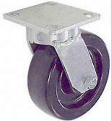 "65 Series Swivel Caster with 5"" x 2"" Phenolic Wheel and 1,000 lb. Capacity"