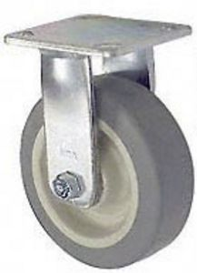 "65 Series Rigid Caster - 4"" x 2"" Performance TPR Wheel - 350 lb. Cap."