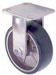 "65 Series Rigid Caster with 6"" x 2"" Urethane on Aluminum Wheel and 1,230 lb. Capacity"