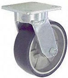 "65 Series Swivel Caster with 8"" x 2"" Urethane on Aluminum Wheel and 1,500 lb. Capacity"