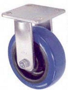 "65 Series Rigid Caster with 4"" x 2"" Urethane on Plastic Wheel and 600 lb. Capacity"