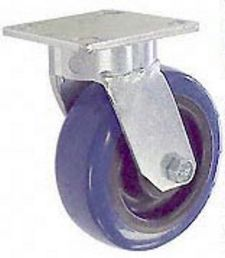 "65 Series Swivel Caster - 5"" x 2"" Urethane on Plastic Wheel - 750 lb. Cap."