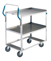 "Stainless Steel Utility Cart - 16-1/2"" W x 28"" L x 44-3/8"" H, 500 lb. Cap."