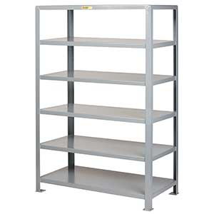 "Welded Steel Shelving - 6 Solid Shelves, 24""D x 60""W x 72""H"