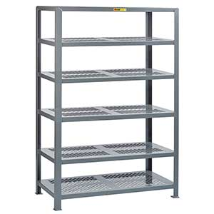 "Welded Steel Shelving - 6 Perforated Shelves, 30""D x 60""W x 72""H"