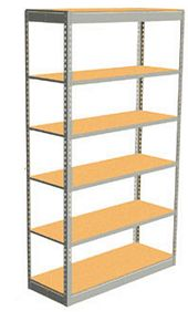 "Low Profile Rivet Shelving, 48""w x 12""d x 84""h, 250Lbs. Cap., 6 Shelves - Starter - With Decking"