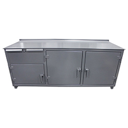 "Stainless Steel Work Height Cabinet - 84""W x 30""D x 31""H"