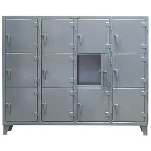 "Mini 3-Tier Cabinet, 4 Wide - 82""W x 18""D x 62""H"