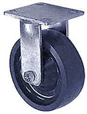 "65 Series Rigid Caster - 5"" x 2"" Solid Urethane Wheel - 900 lb. Cap."
