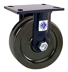 "75 Series Rigid Caster - 8"" x 2-1/2"" Forged Steel Wheel - Straight Bearing - 4,500 lb. Cap."