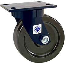"75 Series Swivel Caster with 6"" x 2-1/2"" Forged Steel Wheel and 5,000 lb. Capacity"