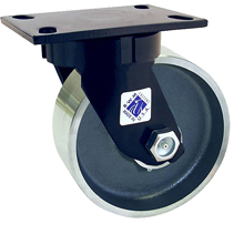 "75 Series Swivel Caster with 8"" x 3"" Forged Steel Wheel and 5,500 lb. Capacity"
