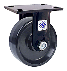 "75 Series Rigid Caster with 8"" x 2-1/2"" Cast Iron Wheel and 2,000 lb. Capacity"