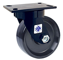"75 Series Swivel Caster with 6"" x 2-1/2"" Cast Iron Wheel and 1,800 lb. Capacity"