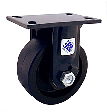 "75 Series Rigid Caster - 8"" x 2-1/2"" Urethane on Iron Wheel - Straight Bearing - 1,800 lb. Cap."