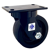 "75 Series Swivel Caster - 10"" x 2-1/2"" Urethane on Iron Wheel - Tapered  Bearing - 2,370 lb. Cap."