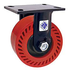 "75 Series Rigid Caster with 10"" x 3"" Omega Wheel and 2,000 lb. Capacity"