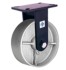 "76 Series Rigid Caster with 12"" x 3"" Cast Iron Wheel and 5,000 lb. Capacity"