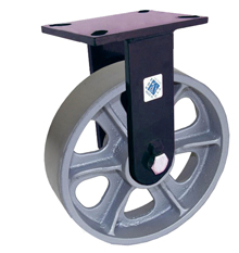 "76 Series Rigid Caster with 10"" x 2-1/2"" Cast Iron Wheel and 2,500 lb. Capacity"