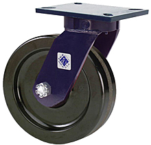 "76 Series Swivel Caster with 12"" x 3"" Phenolic Wheel and 2,500 lb. Capacity"