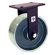 "76 Series Rigid Caster - 8"" x 3"" Forged Steel Wheel - Straight Bearing - 5,500 lb. Cap."