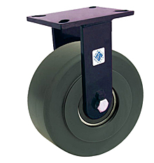 "76 Series Rigid Caster with 12"" x 3"" Nylon Wheel and 10,000 lb. Capacity"