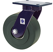 "76 Series Swivel Caster with 12"" x 3"" Nylon Wheel and 10,000 lb. Capacity"